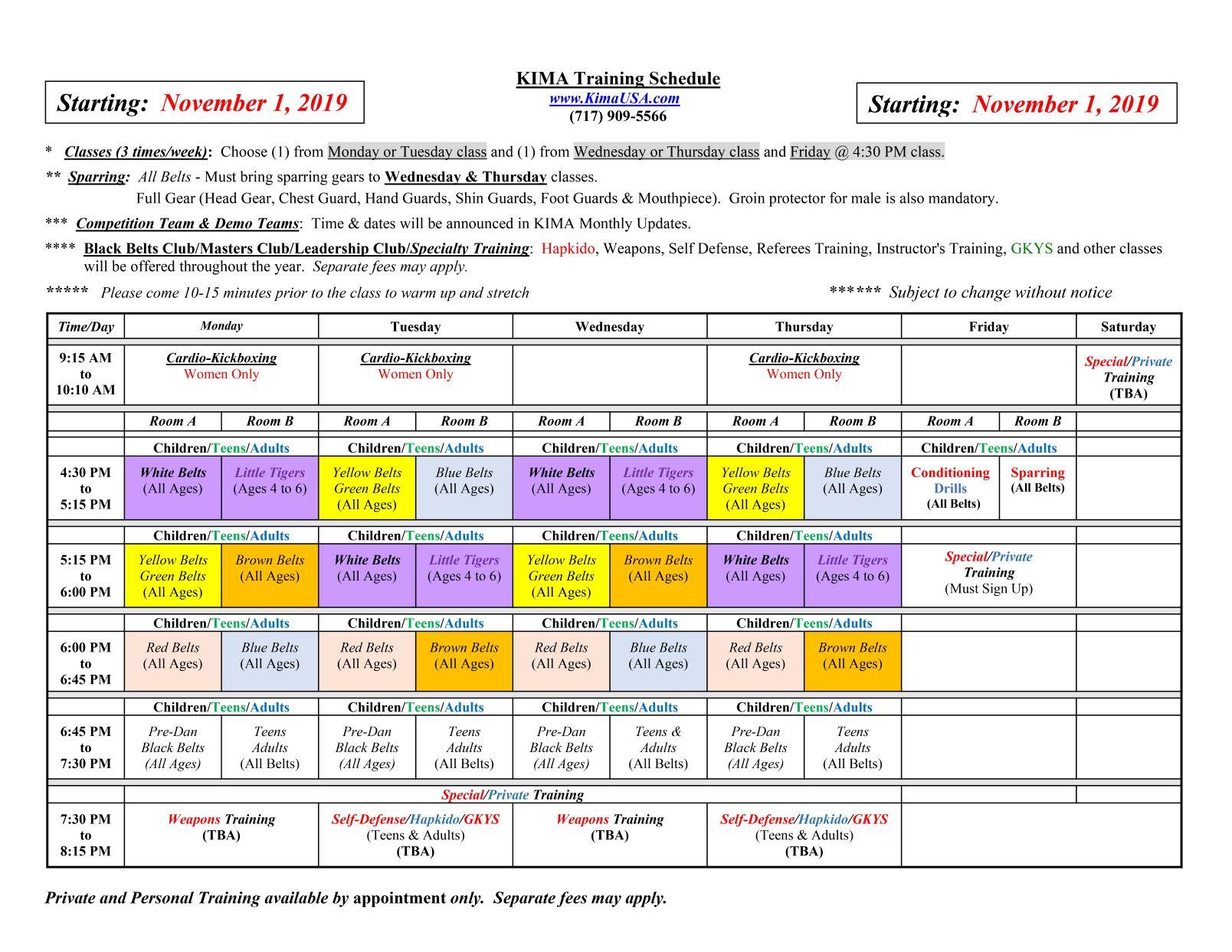 KIMA_Class_Schedule_2019_11_01_2MP